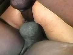 Blacks fuck busty whore